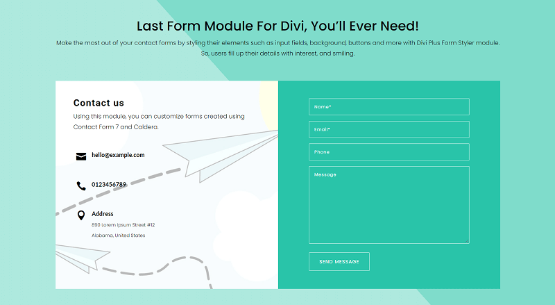 Contact - Last Form Module For Divi, You'll Ever Need!