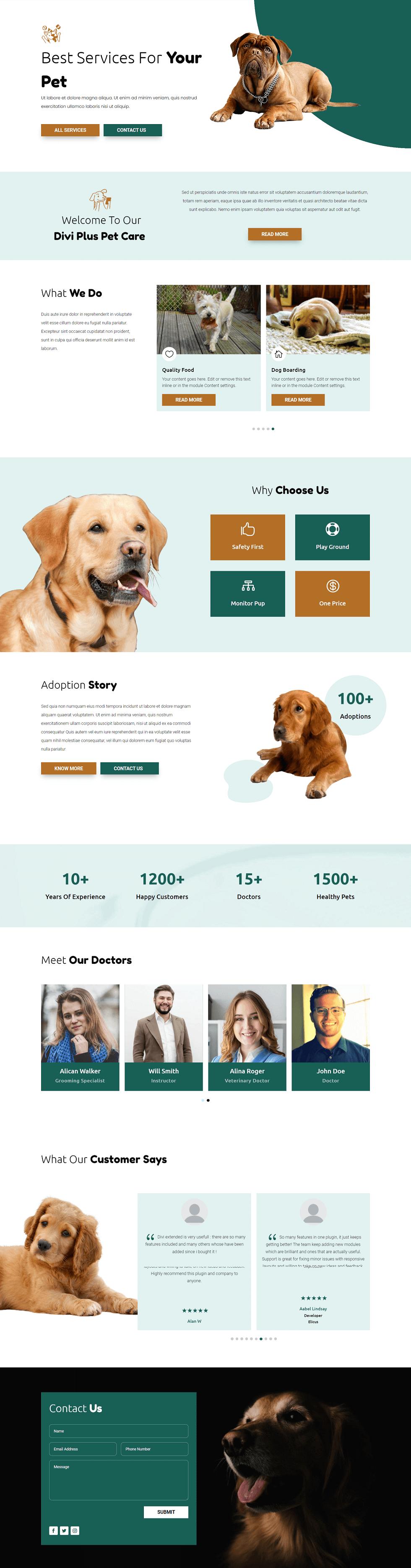 Divi Plus Pet Care Image