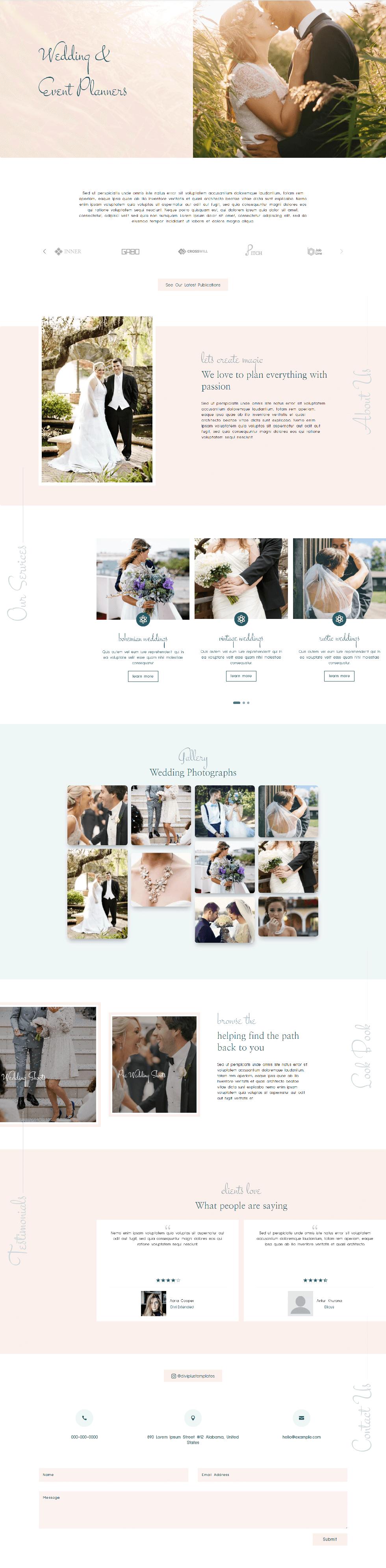 Divi Plus Wedding Planner Image