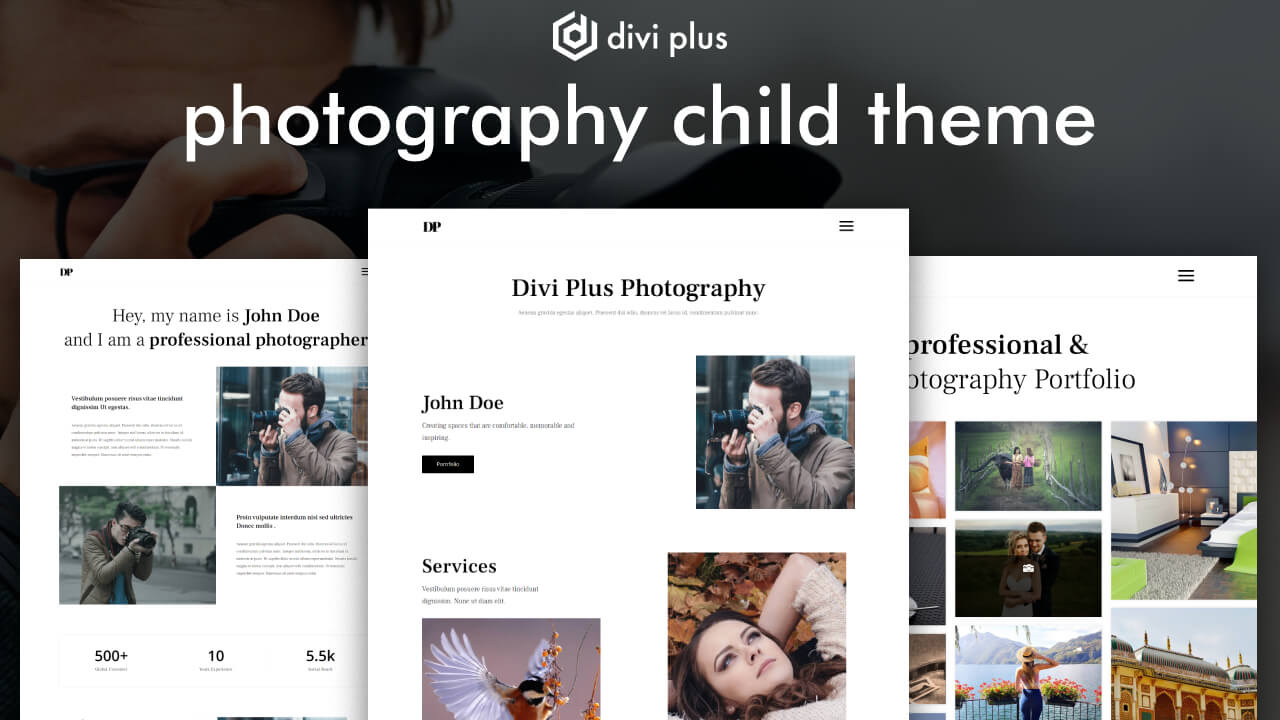 free divi photography layout