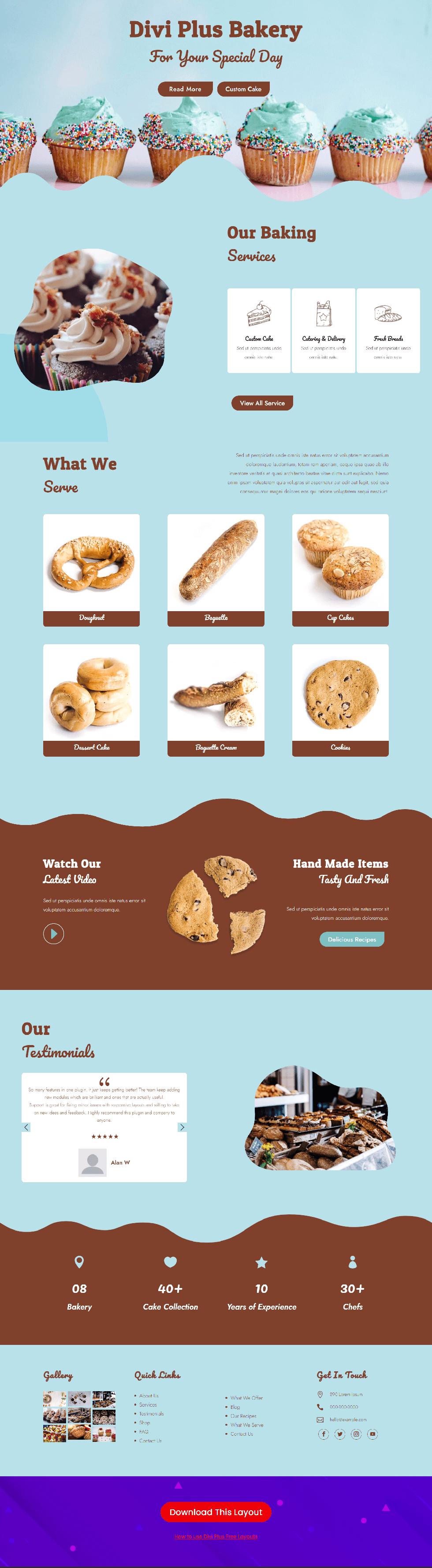 Divi Plus Bakery Image