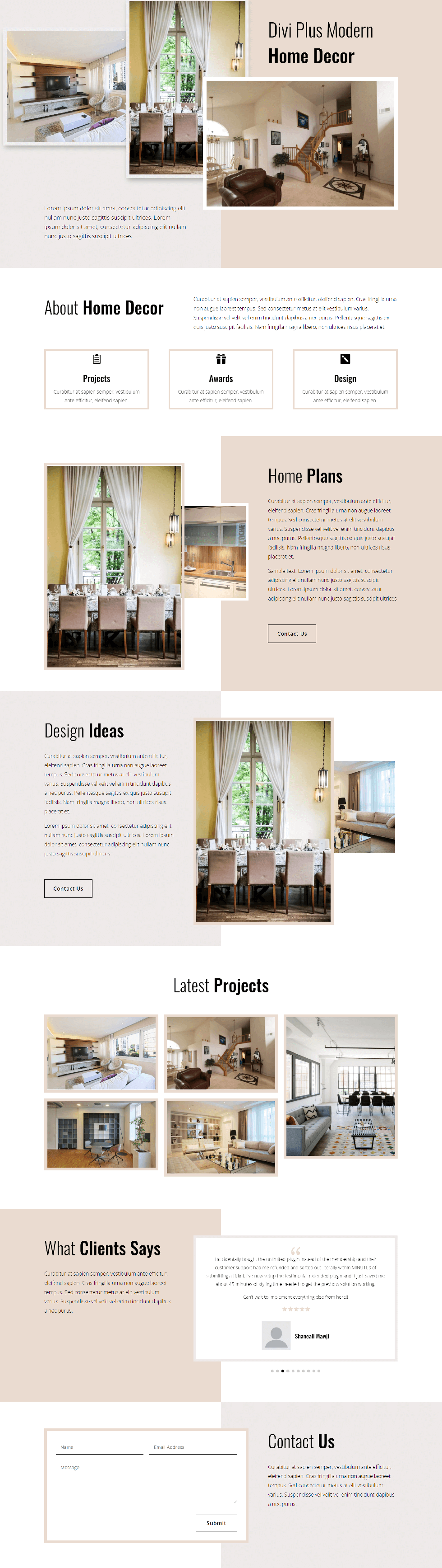 Divi Plus Home Decor Image