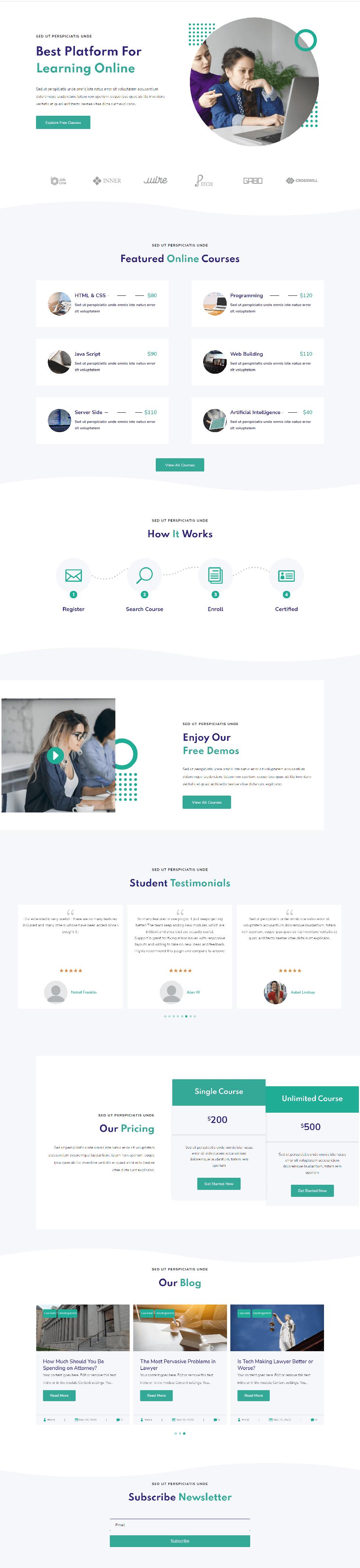 Divi Plus Onilne Courses Image