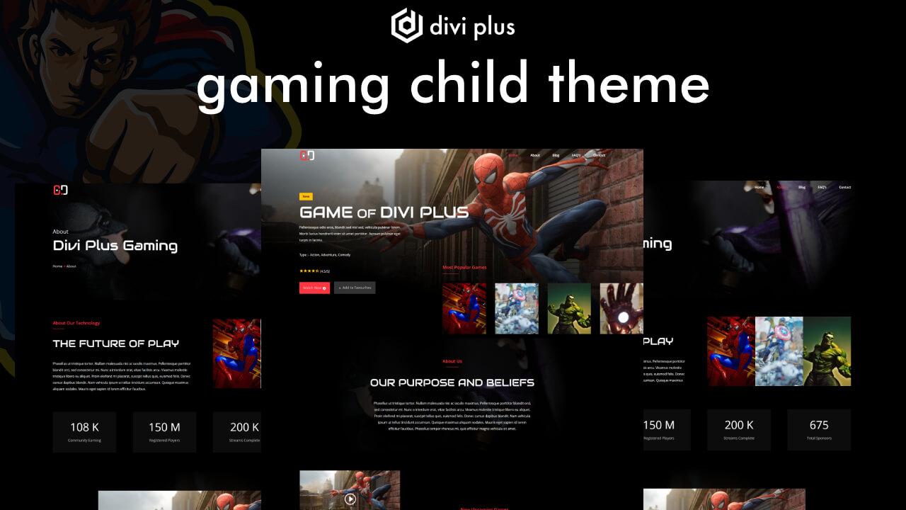 divi gaming theme